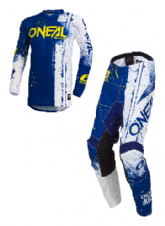 O`Neal ELEMENT Youth Jersey & Pant Combo SHRED blue